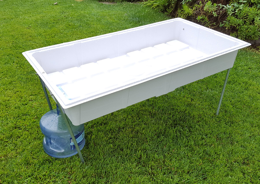 Small 2' x 4' Rain Drinking Water Collector Pan prototype